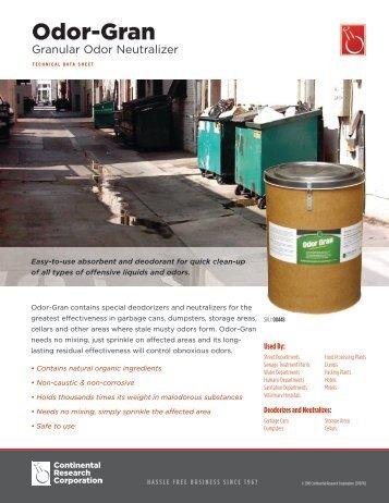 Odor-Gran - Continental Research Corporation