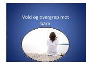 Vold og overgrep mot barn - Fjell kommune