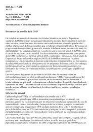 Vacunas contra el VPH: Documento de posición de la OMS - RHO