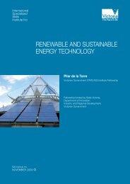 renewable and sustainable energy technology - International ...