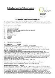 Medienempfehlungen - Ökumenischer Medienladen