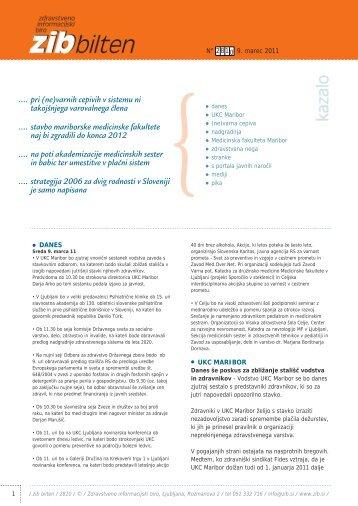 ZIB Bilten, 9. 3. 2011 (str. 4 in 5) - Visoka Åola za zdravstveno nego ...
