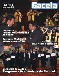 Gaceta Enero - Febrero - Universidad Autónoma de Coahuila