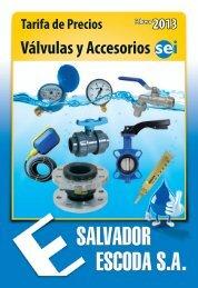 Tarifa de Precios - Válvulas y Accesorios SEI - Salvador Escoda SA