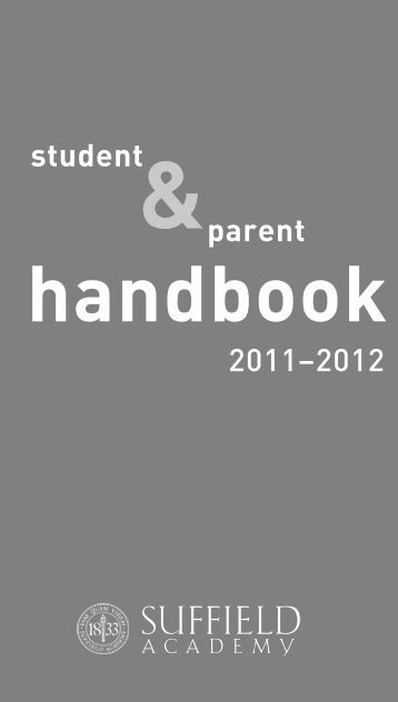 handbook - Suffield Academy
