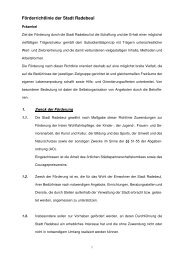 Förderrichtlinie der Stadt Radebeul