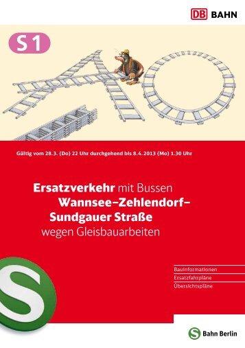 Sonderfaltblatt - S-Bahn Berlin GmbH