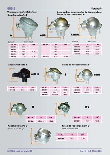 Accessoires de sondes de températures - Metra Instruments ...
