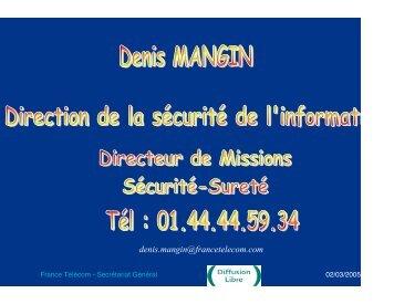 Aspects organisationnels et physiques de la sécurité - Département ...