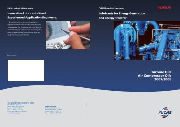 Turbine Oils brochure - Fuchs