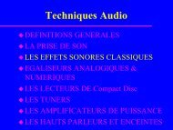 Les effets sonores - Uuu.enseirb.fr