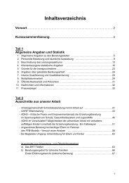 Teil 1 Allgemeine Angaben und Statistik - Caritasverband der ...