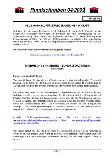 Rundschreiben 04/2009 - Landesinnung Bau