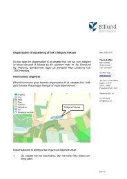 Dispensation til udsætning af fisk i tidligere ... - Billund Kommune