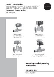 Mounting and Operating Instructions EB 5866 EN - Samson AG Mess