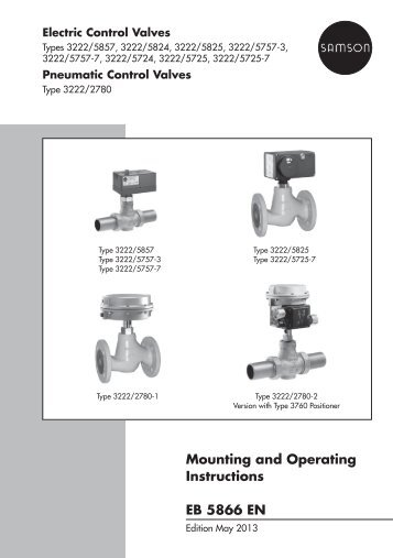 mounting and operating instructions eb 3226 en samson ag rh yumpu com Ford Audio Systems Operating Guide GEM-RP8 Codes Operating Guide