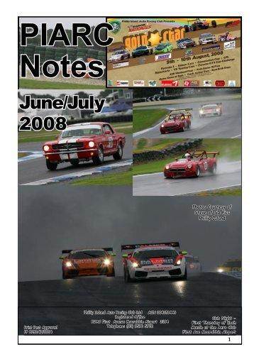 June/July Mag 08 - Phillip Island Auto Racing Club
