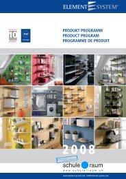 Regalsystem ELEMENT-SYSTEM - AG für Schule & Raum