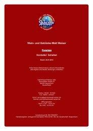 Preisliste für Hersteller: Scheibel - und Getränke-Welt Weiser