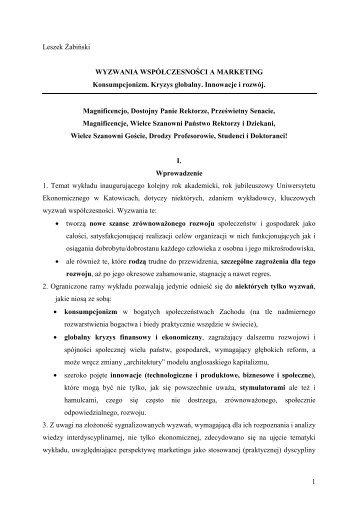 Biuletyn Uniwersytetu Ekonomicznego w Katowicach, Leszek Żabiński