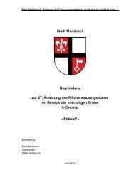 Stadt Medebach Begründung zur 27. Änderung des ... - in Medebach