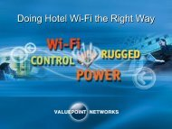 Doing Hotel Wi-Fi the Right Way - ValuePoint Networks