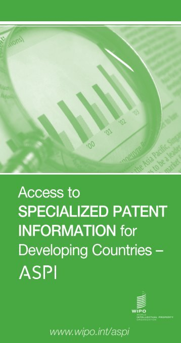 Access to SPECIALIZED PATENT INFORMATION for ... - WIPO