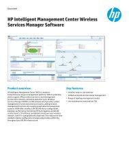 HP Intelligent Management Center User Access     - HP Networking