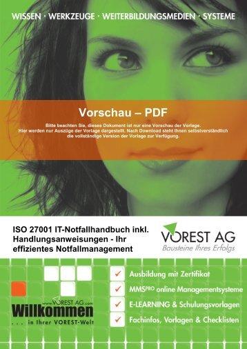 Vorschau – PDF - Vorest AG