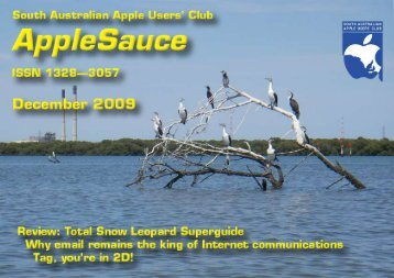 AppleSauce, December 2009 - South Australian Apple Users' Club