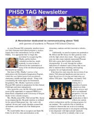 PHSD TAG Newsletter - Pleasant Hill School District #1