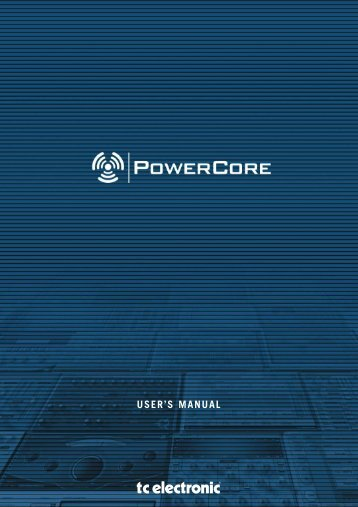 PowerCore 6000 Manual English - TC Electronic