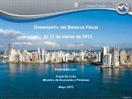 Balance Fiscal I Trimestre 2013 - Ministerio de Economía y Finanzas