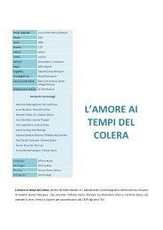 L'AMORE AI TEMPI DEL COLERA - Cineplex