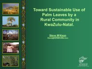 Toward Sustainable Use of Palm Leaves by a Rural ... - SANParks