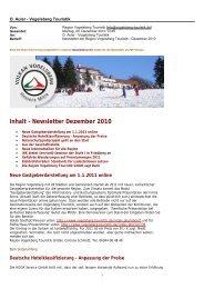 Newsletter Dezember 2010 - Vogelsberg Touristik