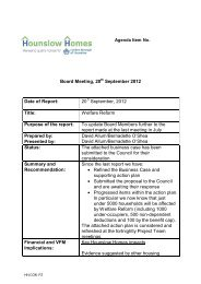 Agenda item 5 - Welfare Reform Business Plan ... - Hounslow Homes