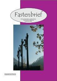 Fastenbrief - Pfarre Mayrhofen und Brandberg