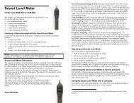 Sound Level Meter - Vernier Software & Technology