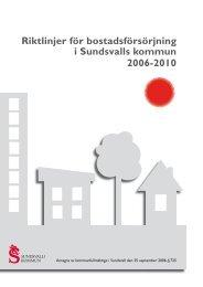 Riktlinjer för bostadsförsörjning - Sundsvall