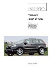 PREISLISTE HONDA CR-V (RE) - Auto-Stieger
