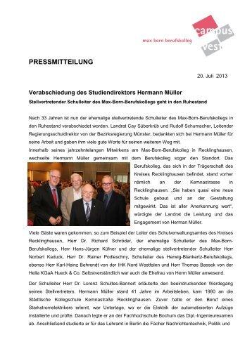 PRESSMITTEILUNG - Kreis Recklinghausen