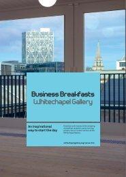 Business Breakfasts Whitechapel Gallery Summer 2010