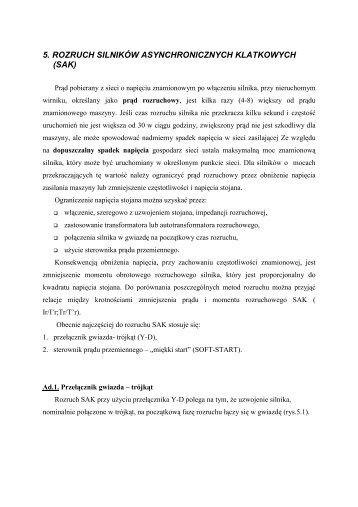 5. rozruch silników asynchronicznych klatkowych (sak) - ssdservice.pl