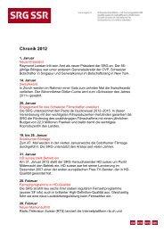 Chronik 2012 - SRG SSR