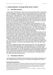 Einführung ins Thema und Analyse des Quartettes B-Dur op.33 Nr.4 ...