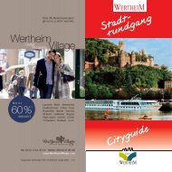 Flyer Stadtrundgang - Stadt Wertheim