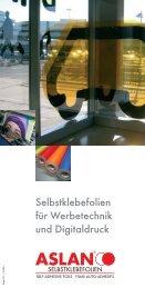 Selbstklebefolien für Werbetechnik und Digitaldruck - bei BRS