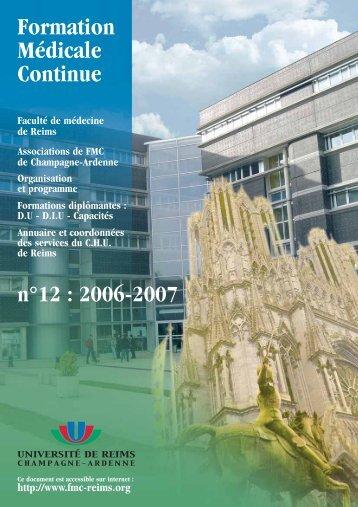 Formation Médicale Continue - Université de Reims Champagne ...