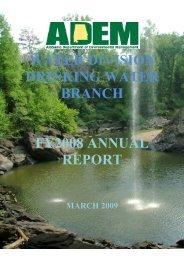 2008 Annual Report-Final - Alabama Department of Environmental ...